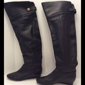 SOFT SURROUNDINGS OVER THE KNEE LEATHER BOOTS 7.5